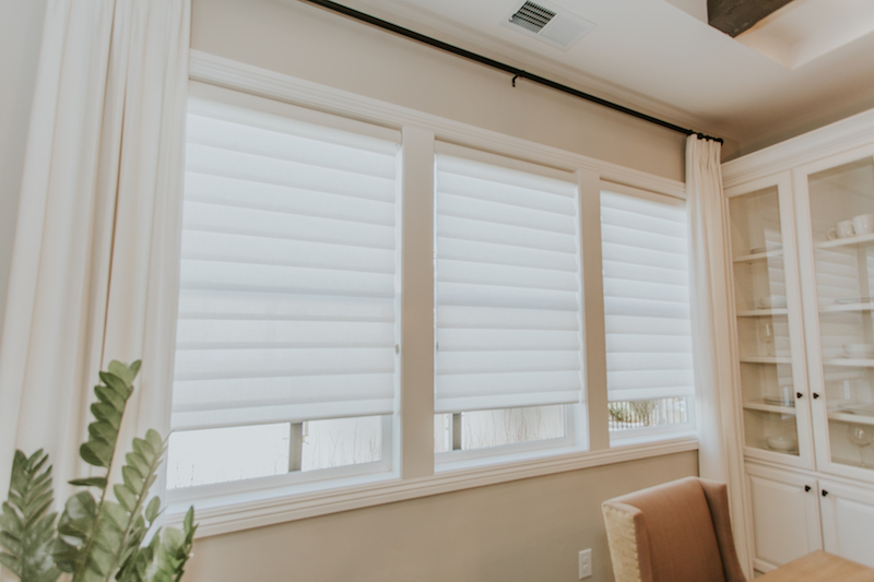 vignette shades, horizon window fashions